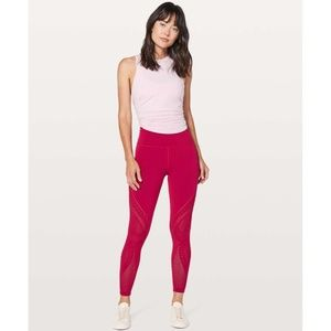 Lululemon Reveal Tight Interconnect in Ruby Red 10